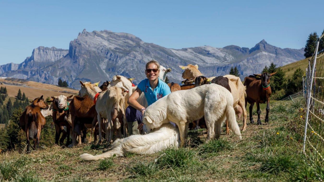 Flavie Melendez est à la fois agricultrice et infirmière.