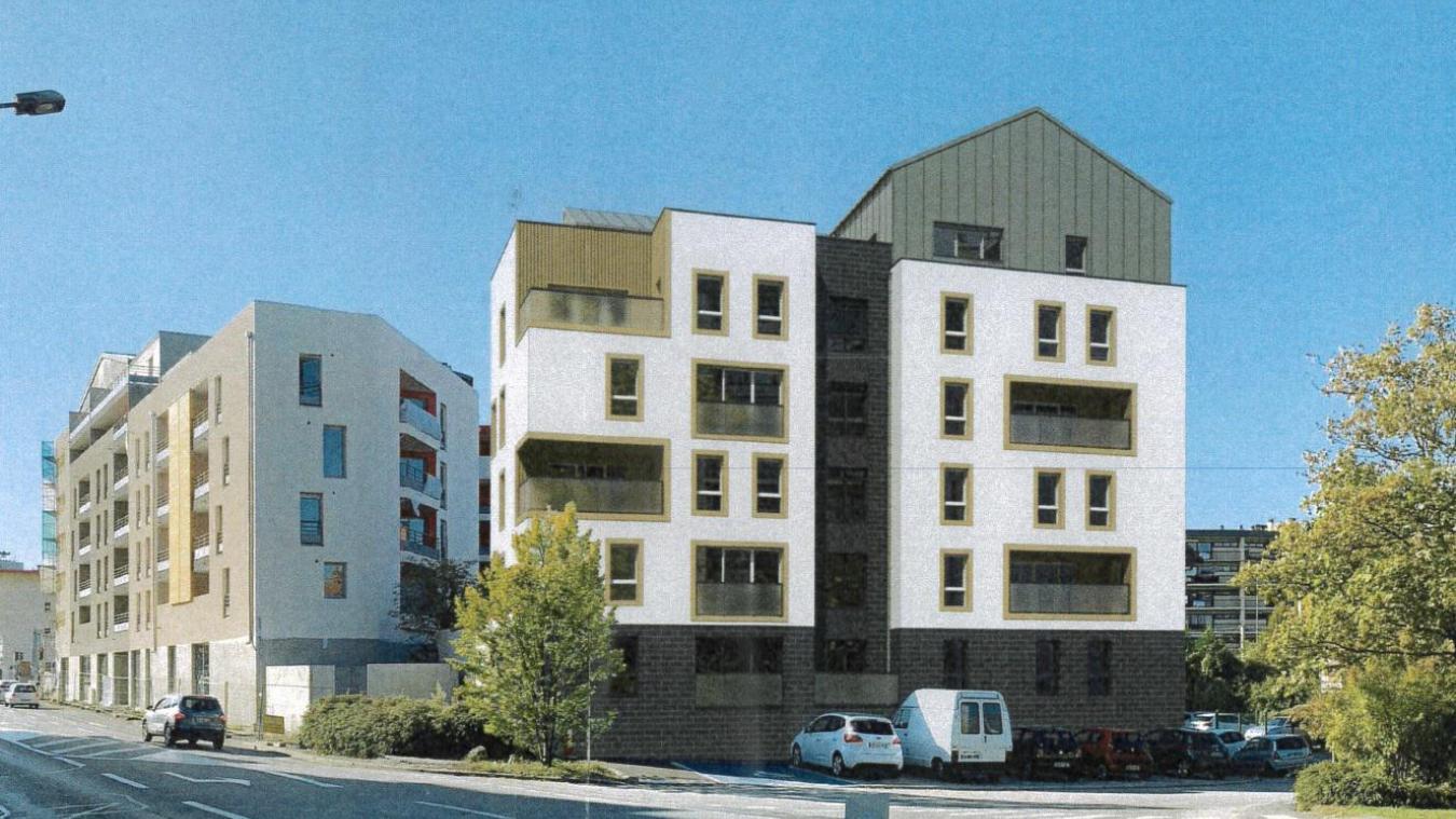 C'est ce programme immobilier de 45 logements qui va remplacer la  maison jaune .