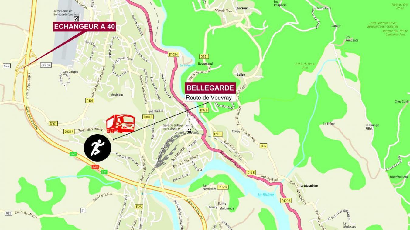 La tentative a eu lieu route de Vouvray, samedi 26 décembre 2020.