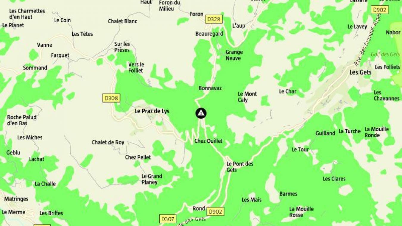 La sortie de route a eu lieu vers le lieu-dit Les Côtes.
