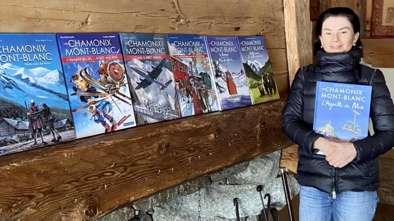 Elisa Giacomotti publie le huitième tome de ses BD, consacré à l'histoire de l'Aiguille du Midi. Une épopée rocambolesque.