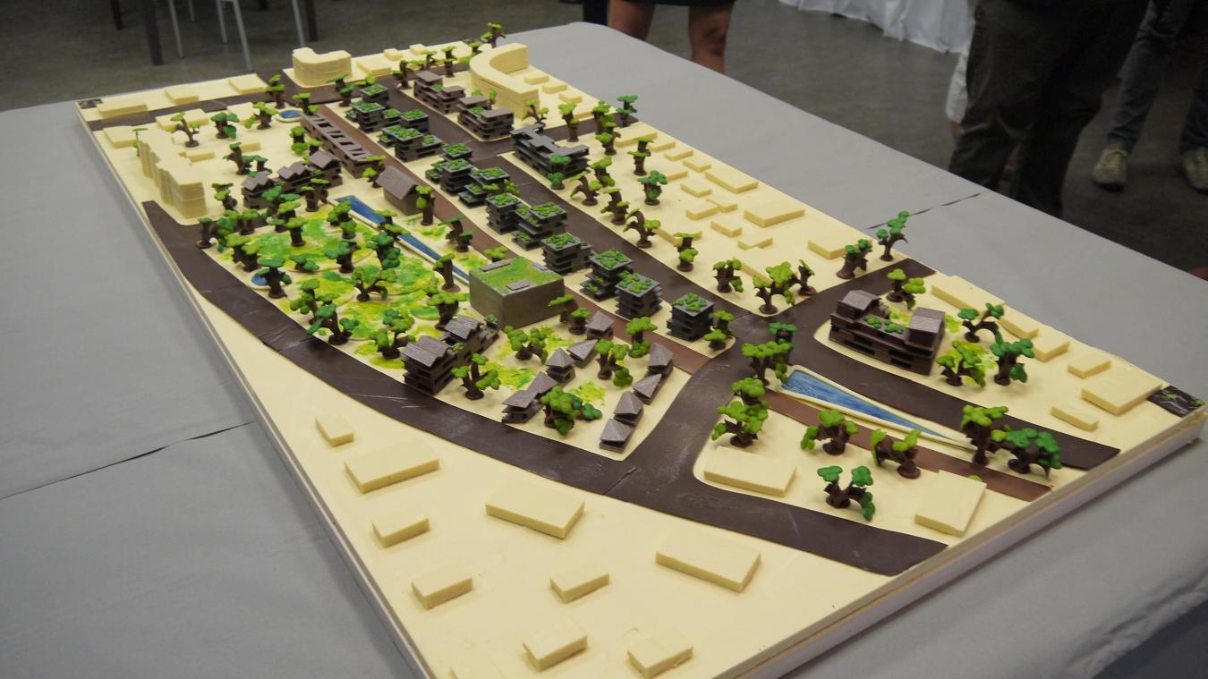 Lors de l'annonce du choix de l'aménageur en 2016, une maquette du projet en chocolat avait été réalisée.