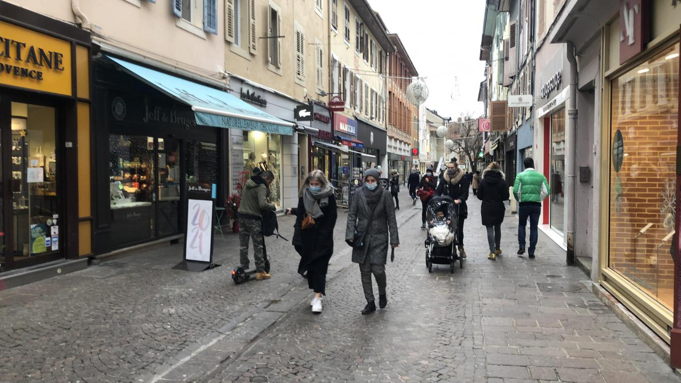 Les Chablaisiens étaient au rendez-vous dans les rues commerçantes du centre-ville de Thonon durant les fêtes.