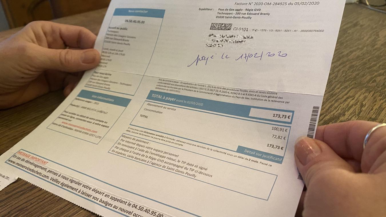 Vous recevrez mi-janvier votre facture pour 2020 contenant les explications de l'augmentation prévue en 2021.