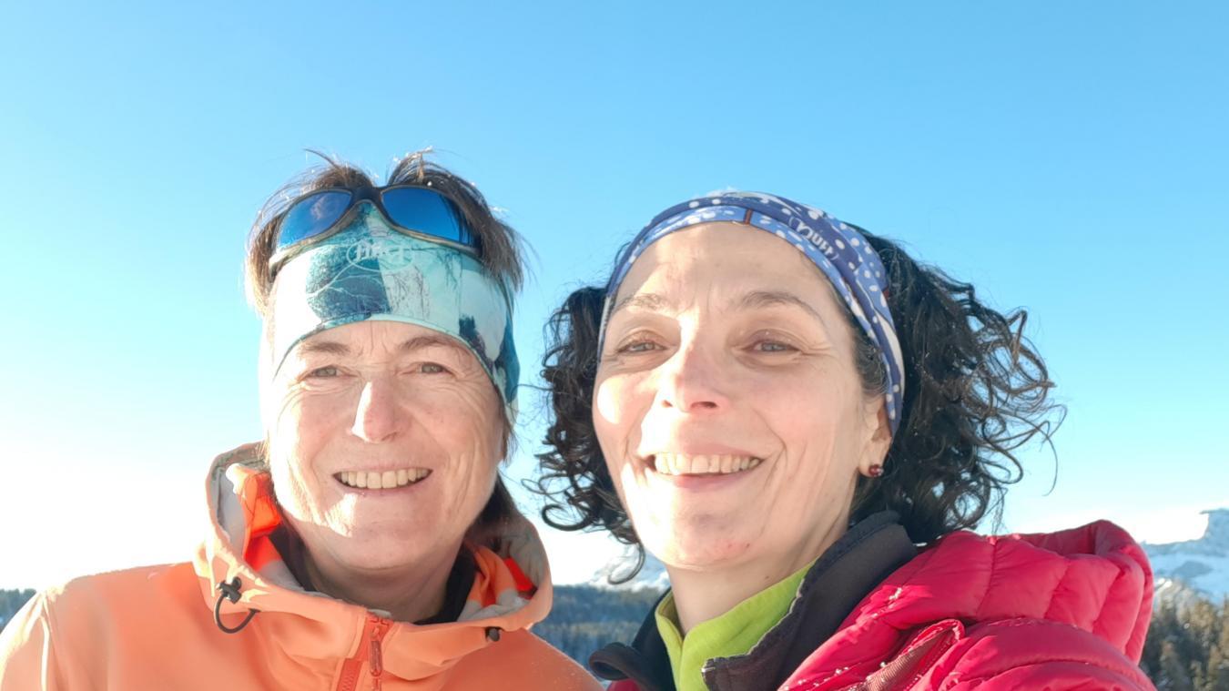 Anne-Marie et Hélène se sont rencontrées aux Saisies grâce à leur activité d'accompagnatrice en montagne.