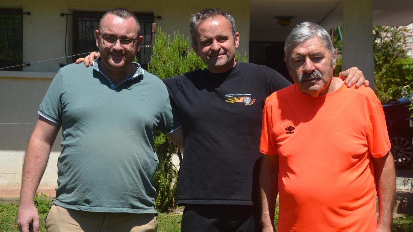 Franco, Dino et Lucas, de droite à gauche sur la photo l'été dernier.