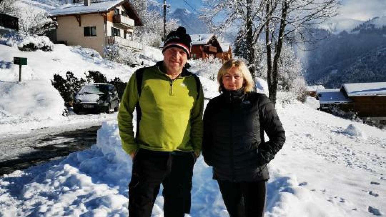 Christian Birraux et son épouse.