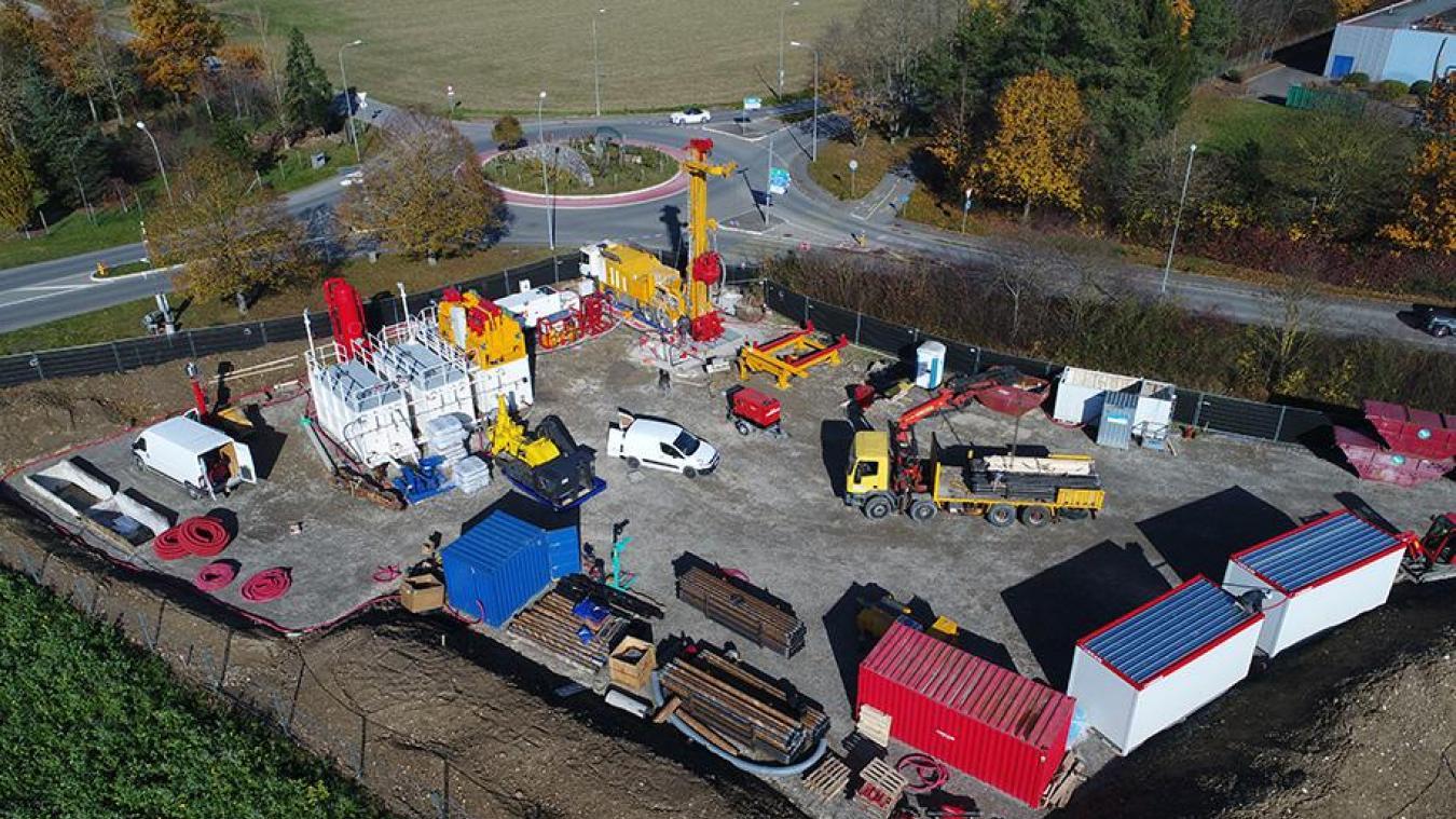 Dans le cadre du programme GEothermie 2020, un forage exploratoire a été réalisé à Satigny. © SIG