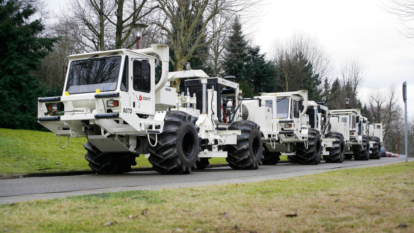Entre le 1er avril 2021 et fin mai, de drôles de camions montés sur d'énormes roues vont sillonner 14 communes frontalières la nuit, entre 21h et 6h.