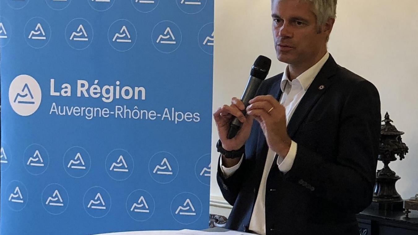 Laurent Wauquiez, président de la Région Auvergne-Rhône-Alpes, a rédigé la lettre ouverte au président de la République. (photo archives Messager)