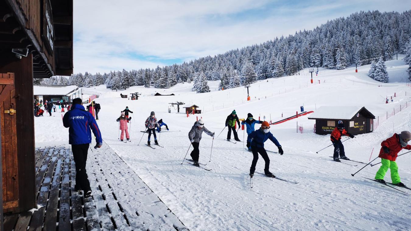 La station du Semnoz a doublé son chiffre d'affaires sur la partie ski de fond durant les deux semaines de vacances. Crédit Photo : Le Semnoz.