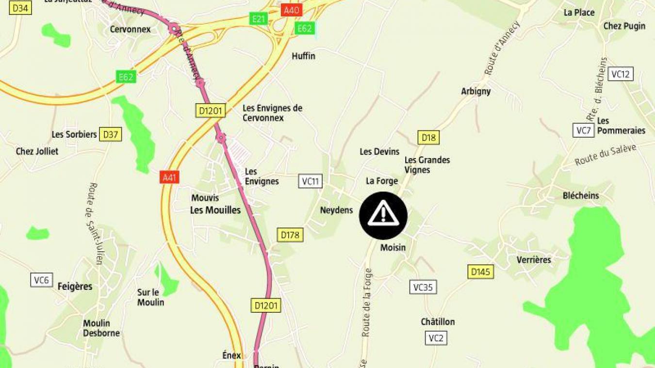 Mercredi 6 janvier, les gendarmes du peloton motorisé de Saint-Julien-en-Genevois ont intercepté un automobiliste de 20 ans, qui roulait à 145km/h au lieu de 80, sur la route départementale 18, à Neydens, en direction d'Archamps.