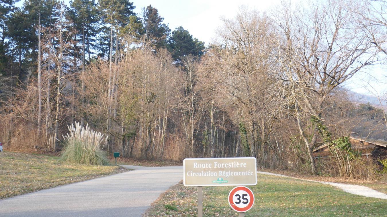 La circulation sur le route forestière est réglementée.