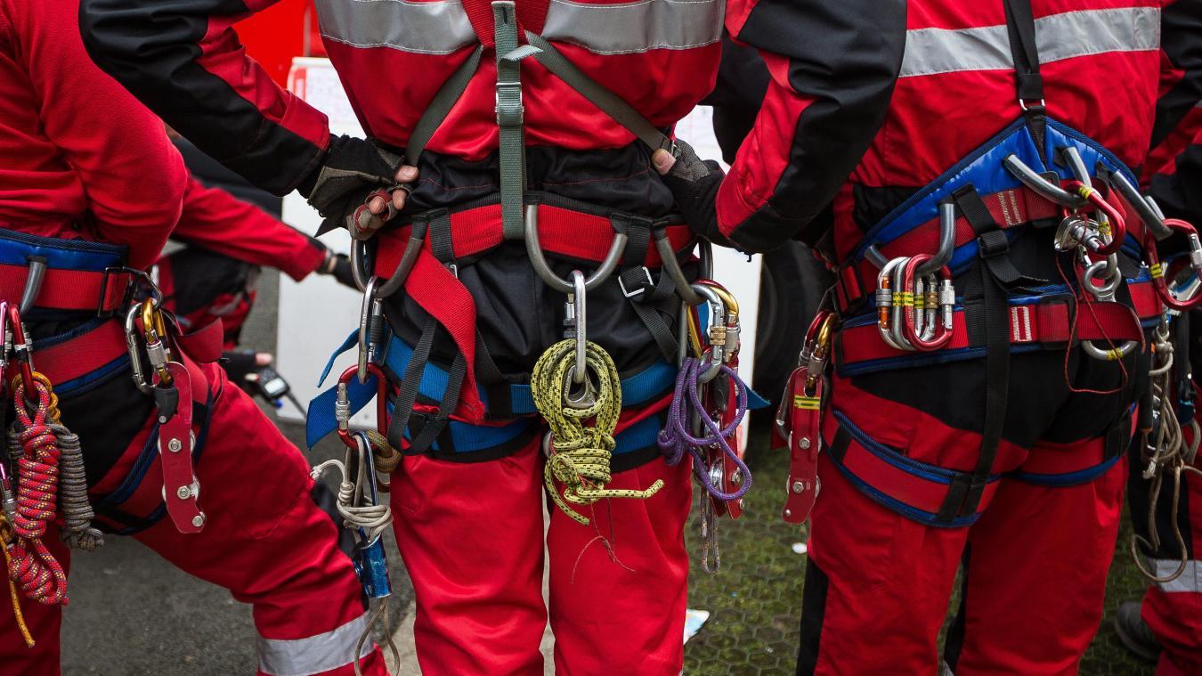 Les randonneurs ont été secourus par les pompiers du SMPM (secours milieu périlleux et montagne). © VDNPQR
