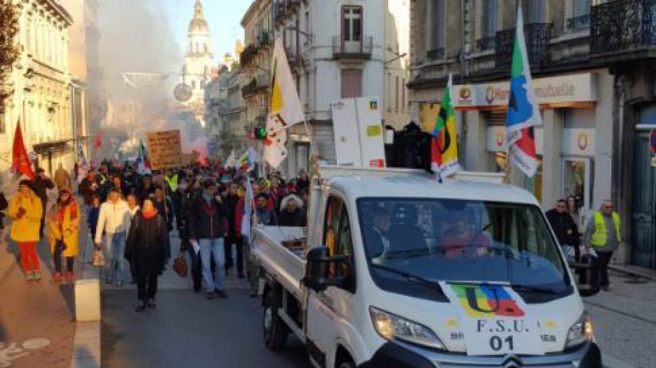 Une manifestation est prévue à Bourg-en-Bresse.