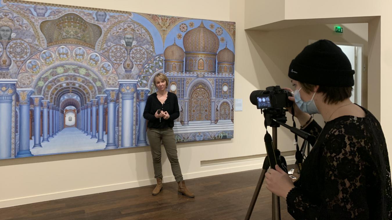 Le musée des Beaux-Arts propose des vidéos où les médiateurs font découvrir une œuvre particulière de l'exposition.