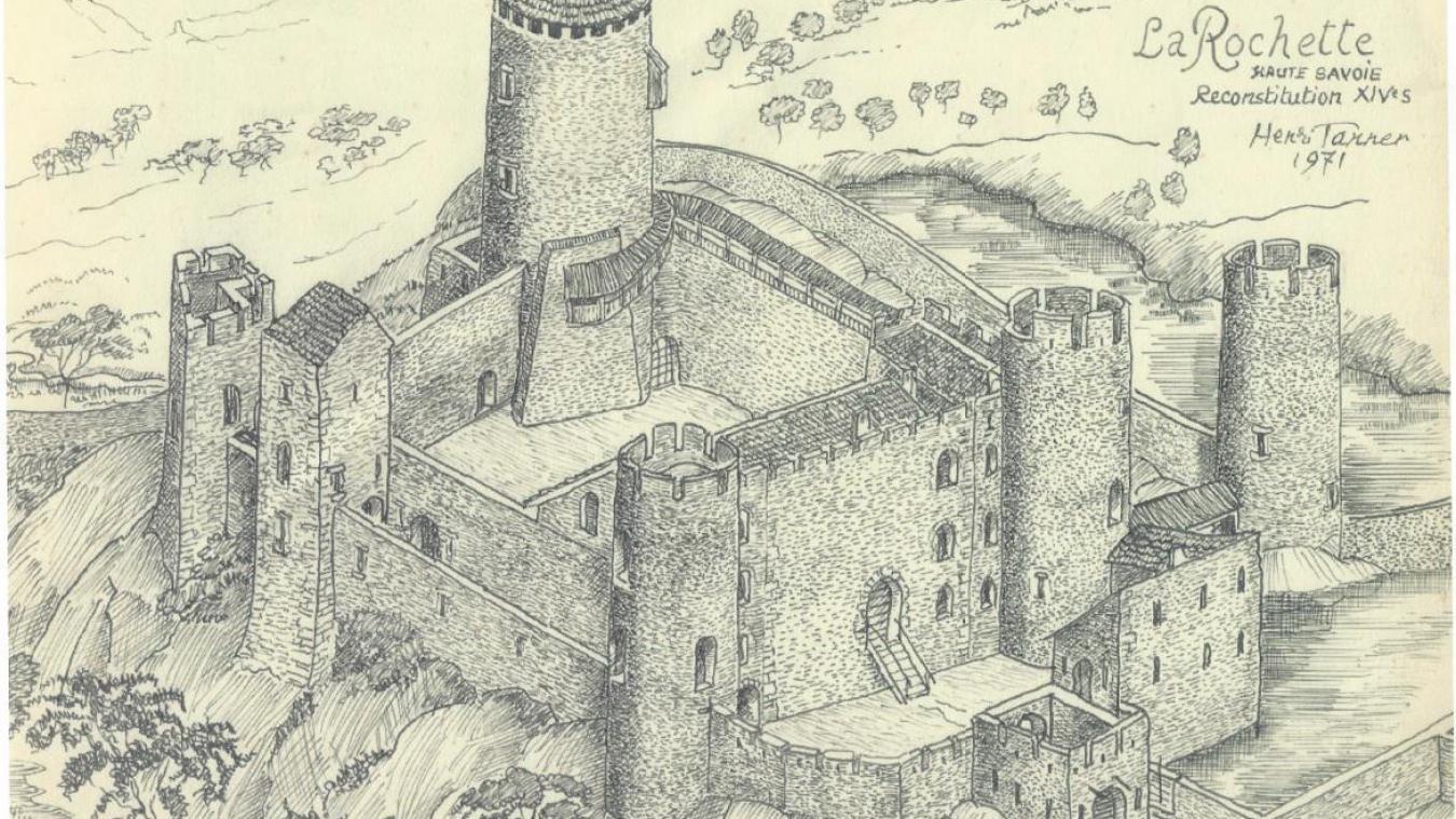 Le château de la Rochette présentait les normes militaires adoptées au Moyen-Âge. Le seul du Chablais avec celui d'Allinges-Vieux.