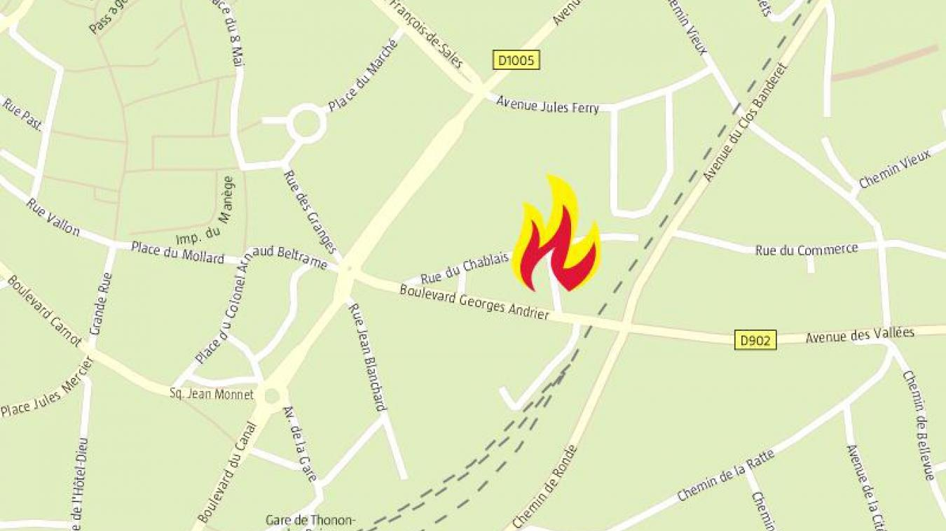 Thonon-les-Bains : un appartement ravagé par les flammes