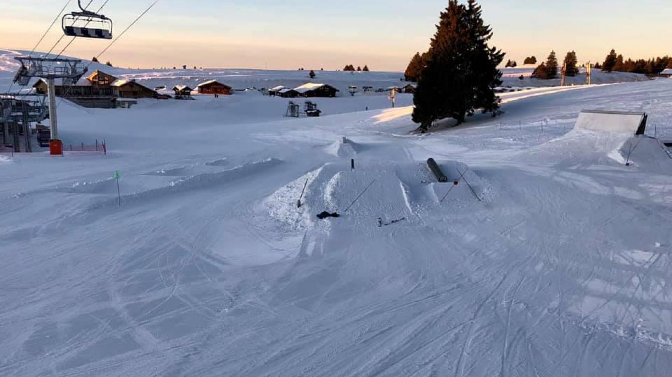 Le snowpark est ouvert les mercredis et week-ends. Photo: Facebook du Semnoz.