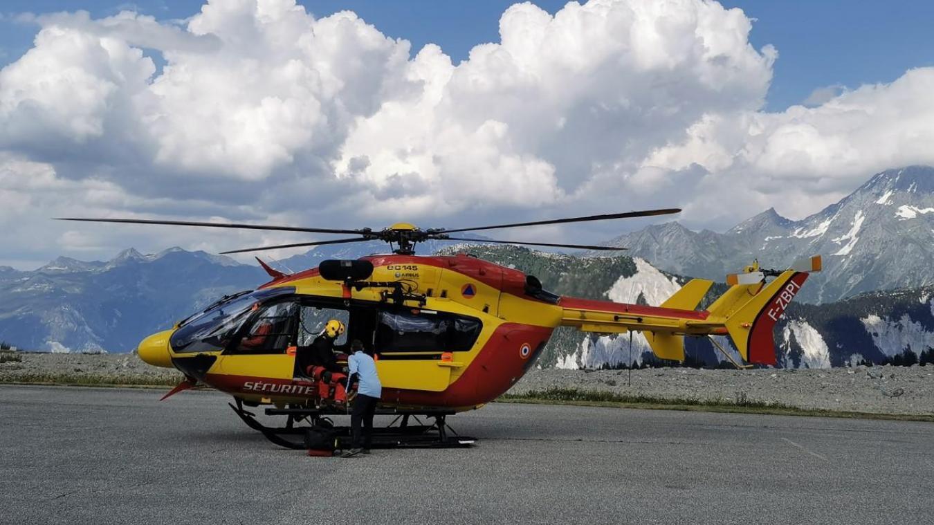 La victime a pu être localisée grâce à l'hélicoptère. (Photo d'illustration)