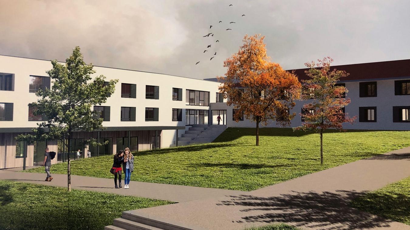 Cinq bâtiments neufs vont être érigés route du Crêt d'Etsy à Chavanod. Visuel: AER Architectes.