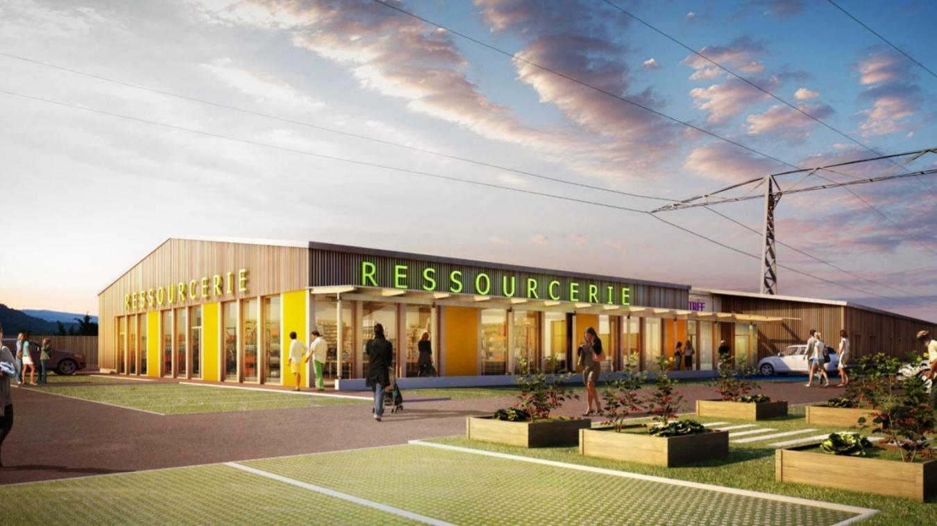 La ressourcerie ouvrira ses portes en 2021. © Pays de Gex agglo