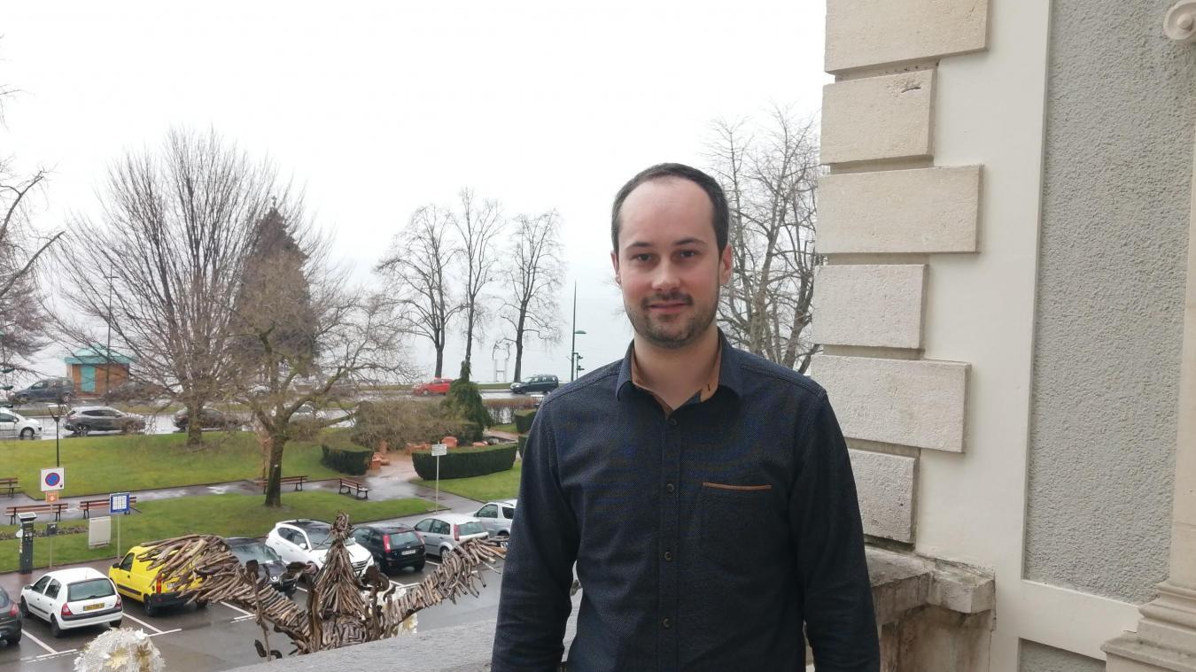 Julien Bozonnet, adjoint au maire en charge des finances à Evian-les-Bains.
