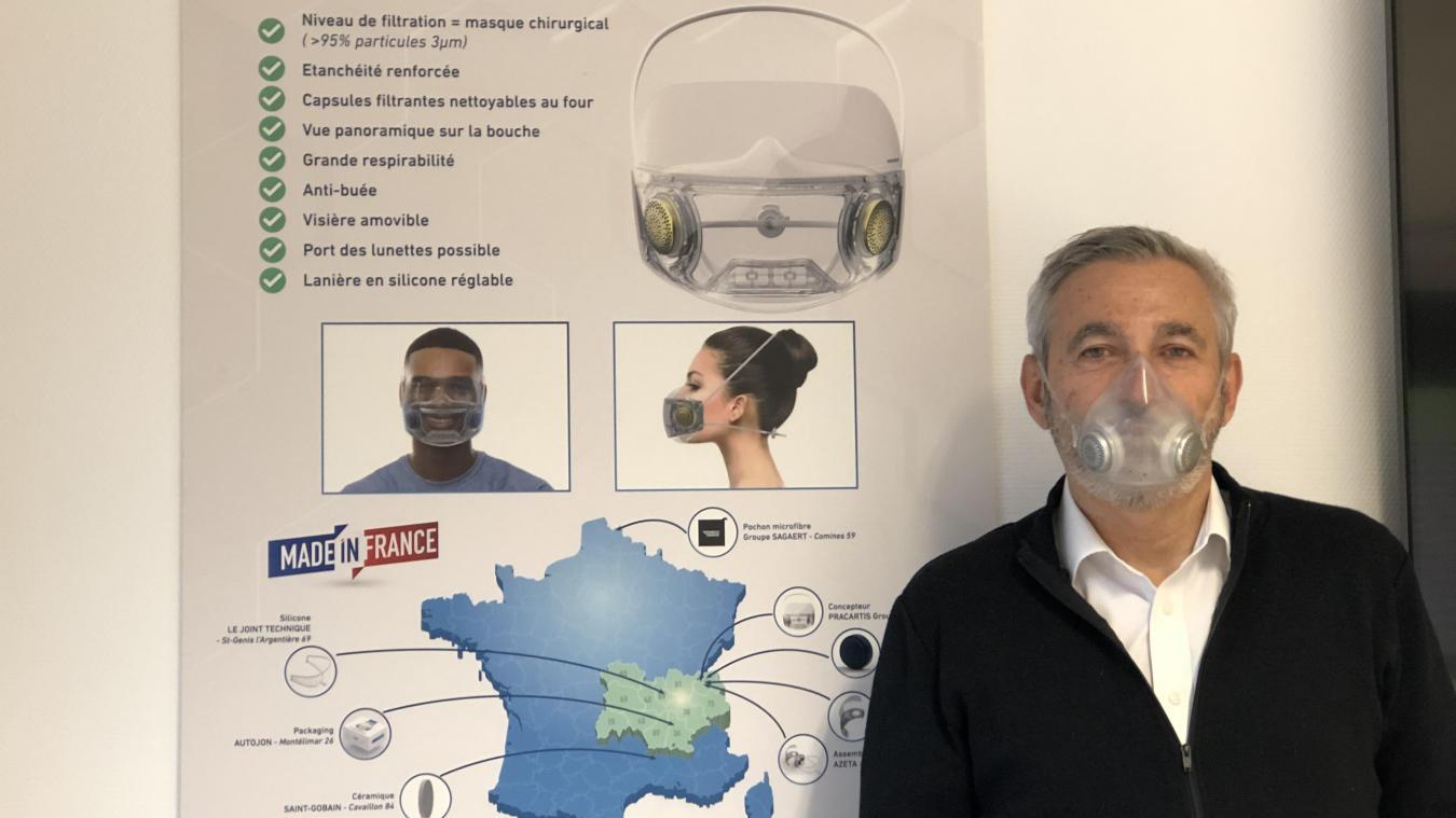 Alain Auffret, à l'origine du projet Precimask, désormais décliné en deux modèles : Pro et Air.