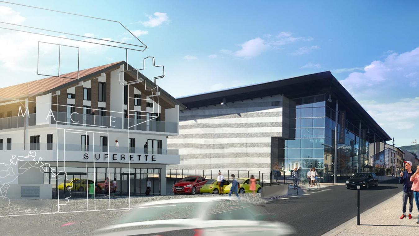 La municipalité espère l'ouverture de l'épicerie de proximité d'ici deux ans. ©Mairie de Saint-Genis-Pouilly