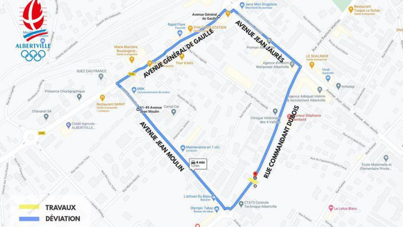 Albertville: restrictions de circulation dès ce vendredi rue du Commandant Dubois