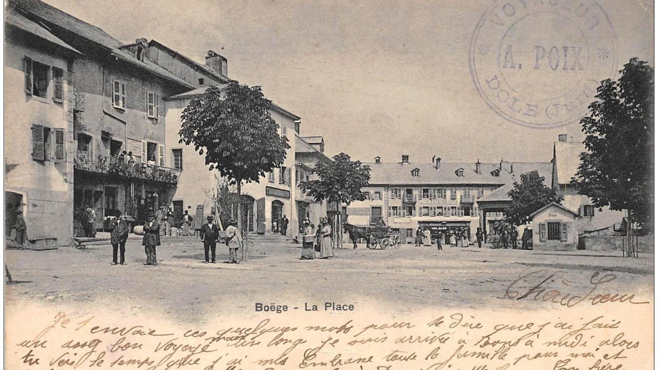 La commune de Boëge, ici en en 1902, a longtemps appartenu au Faucigny.