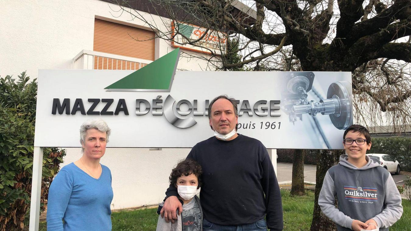 De gauche à droite : Sylvie, Valentino, Laurent et Marc Mazza.