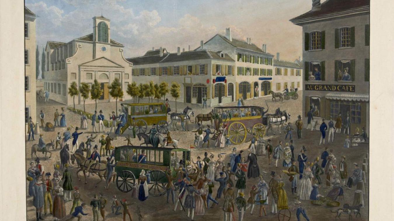 Une vue de la ville de Carouge du temps où elle faisait partie des Etats de Savoie.