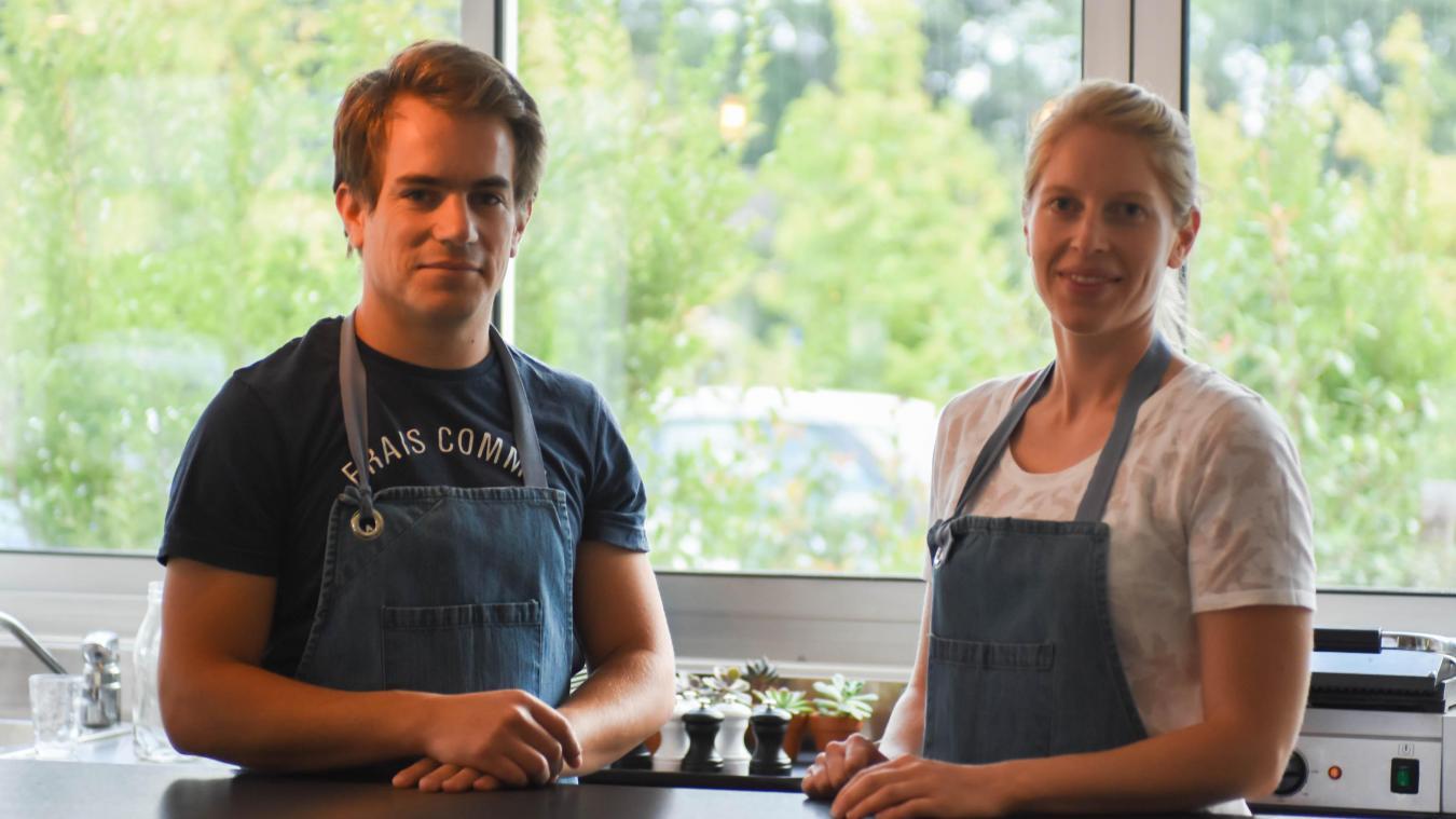 Perrine Besançon et Corentin Cheylus sont à la tête d'une équipe de cinq personnes.
