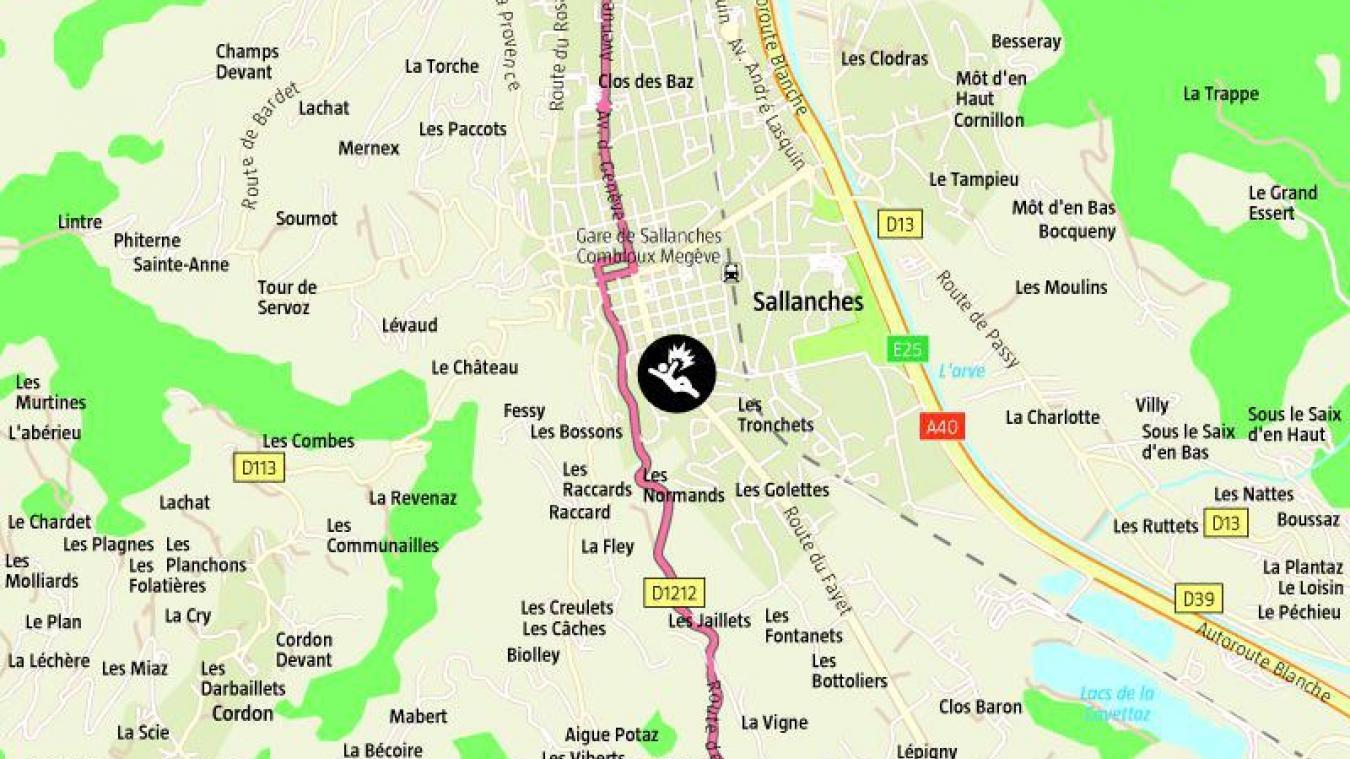Le double accident a eu lieu route du Fayet, à Sallanches.