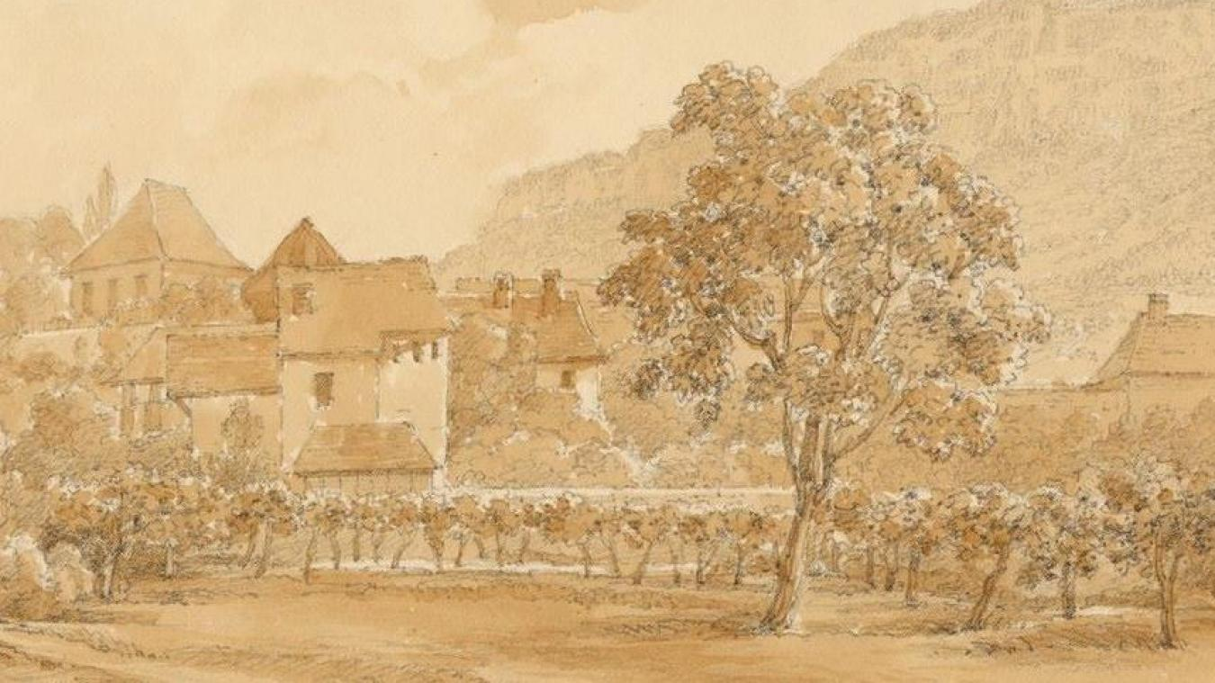 Des vignes aixoises au XIXe siècle. Illustration: Archives Aix (Castellan).
