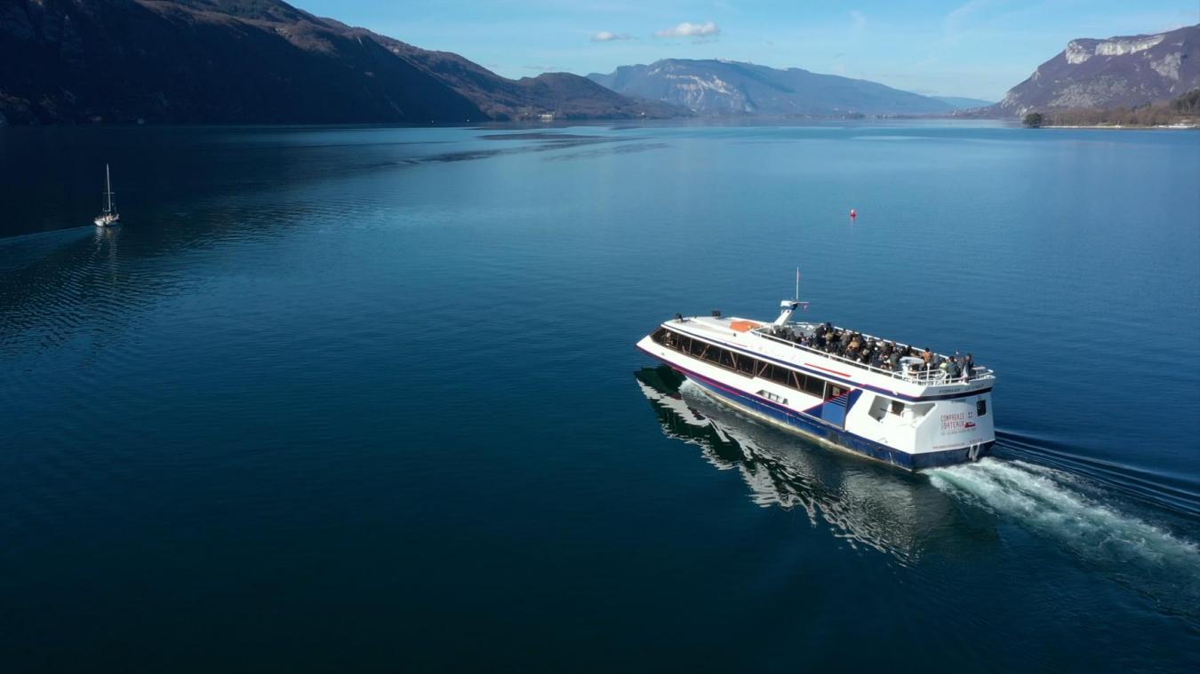 L'activité a été au ralenti sur le lac du Bourget, mais elle a repris à un rythme de trois jours par semaine plus le week-end.