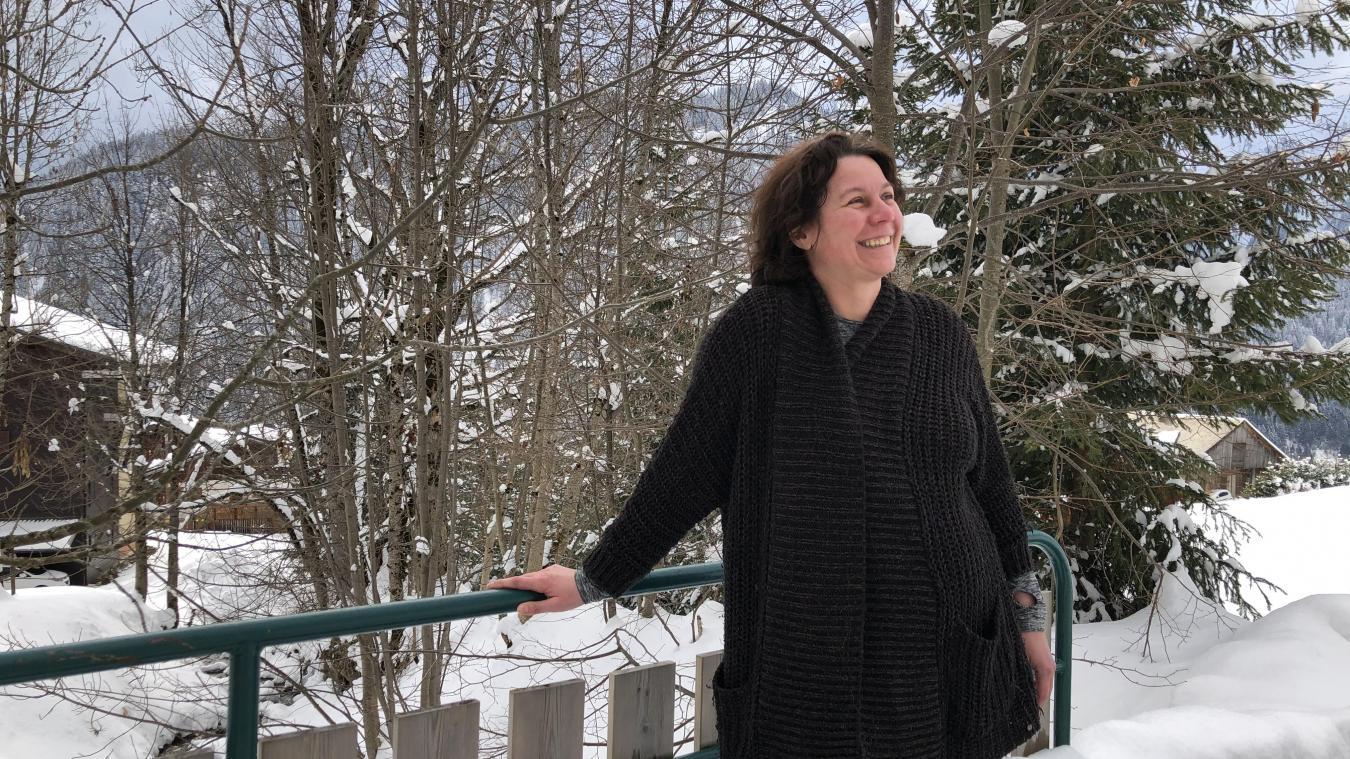 Alexandra Le Corre à Châtel le 18 mars. «malgréle désastre financier concernant mon activité, j'ai rebondi. Je peux enfin nourrir mes enfants dans l'honneur et la dignité.»