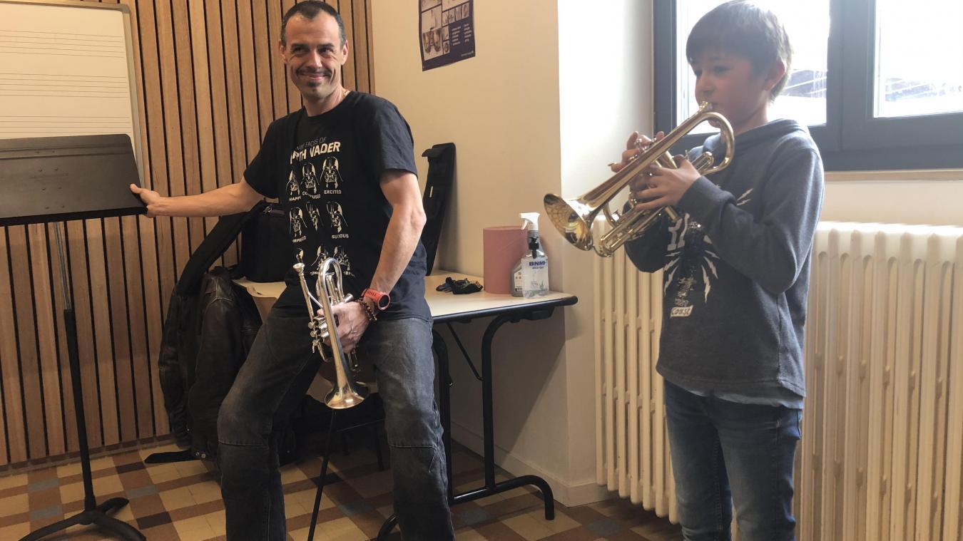 Dorénavant, Lucas pourra, outre la trompette, apprendre d'autres instruments dans l'Agglo.