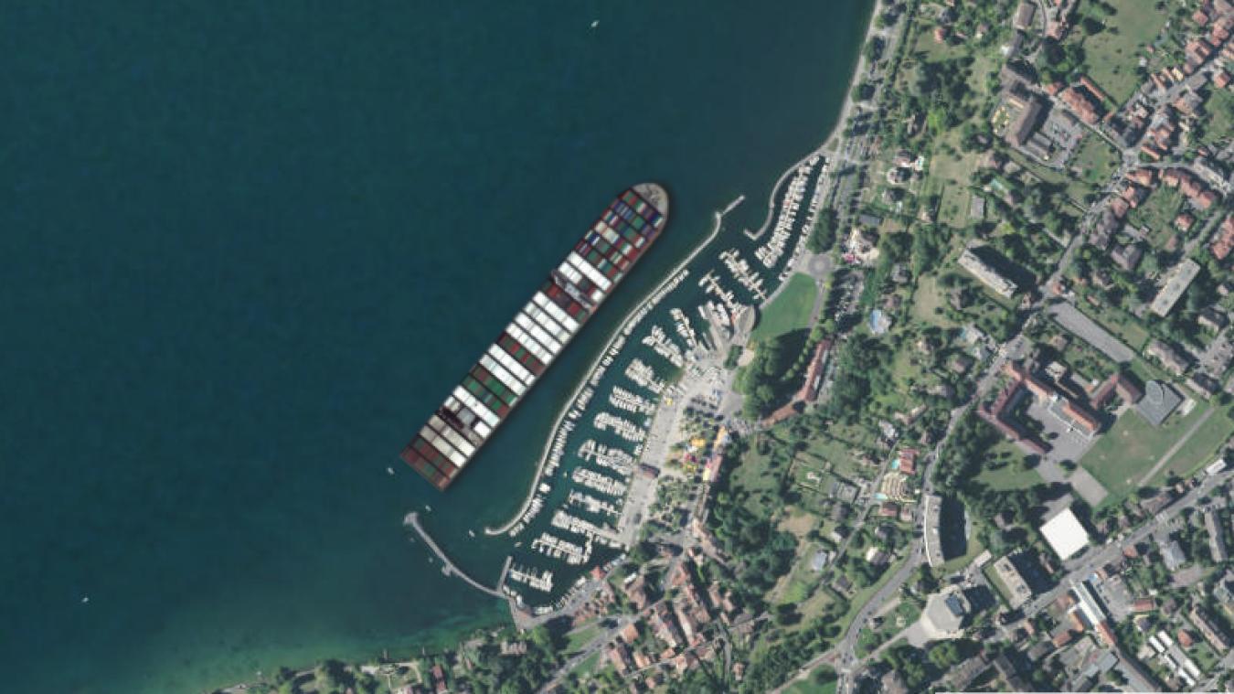 Que se passe-t-il quand on place le porte-conteneurs du canal de Suez dans les Alpes ?