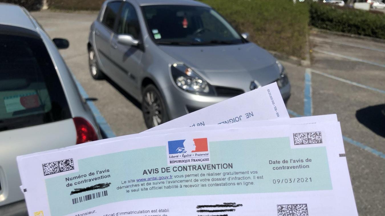 Une contravention indue, reçue par un habitant au parking de Barral.