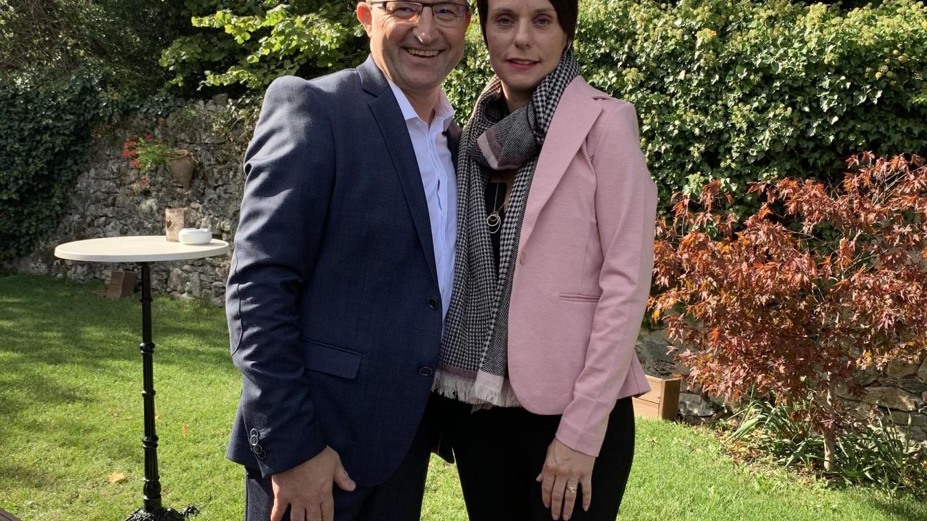 Nicolas Paillard et son épouse.