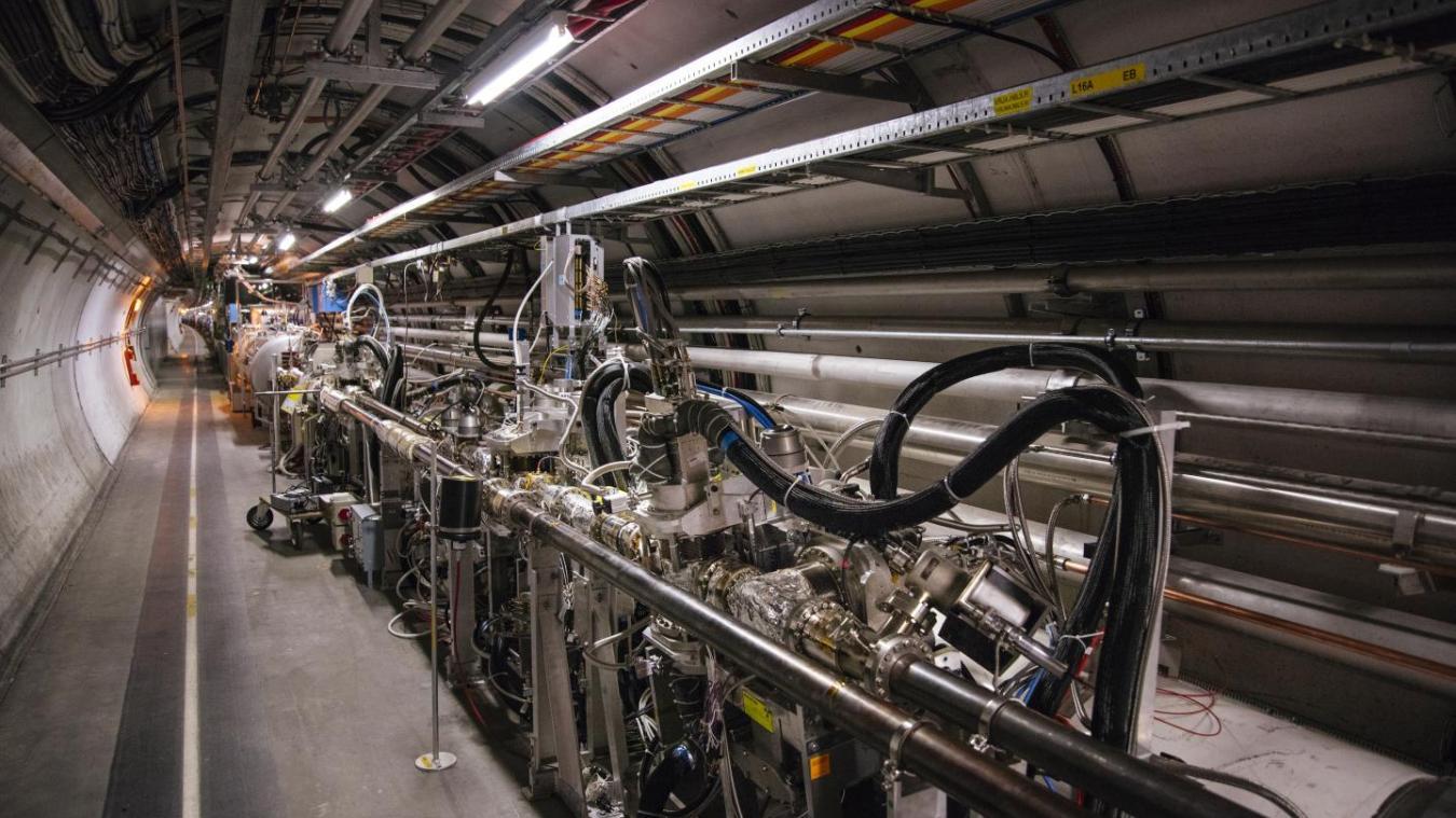 Une partie de l'installation TOTEM dans le tunnel du LHC, à 220 m du détecteur CMS (Crédit photo : Cern)