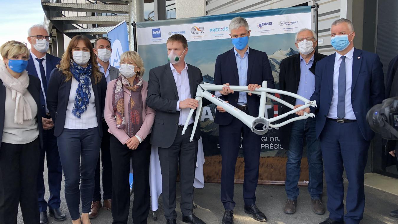 Laurent Wauquiez a promis une subvention de 400000 euros pour soutenir la mise au point du vélo H3Bike.