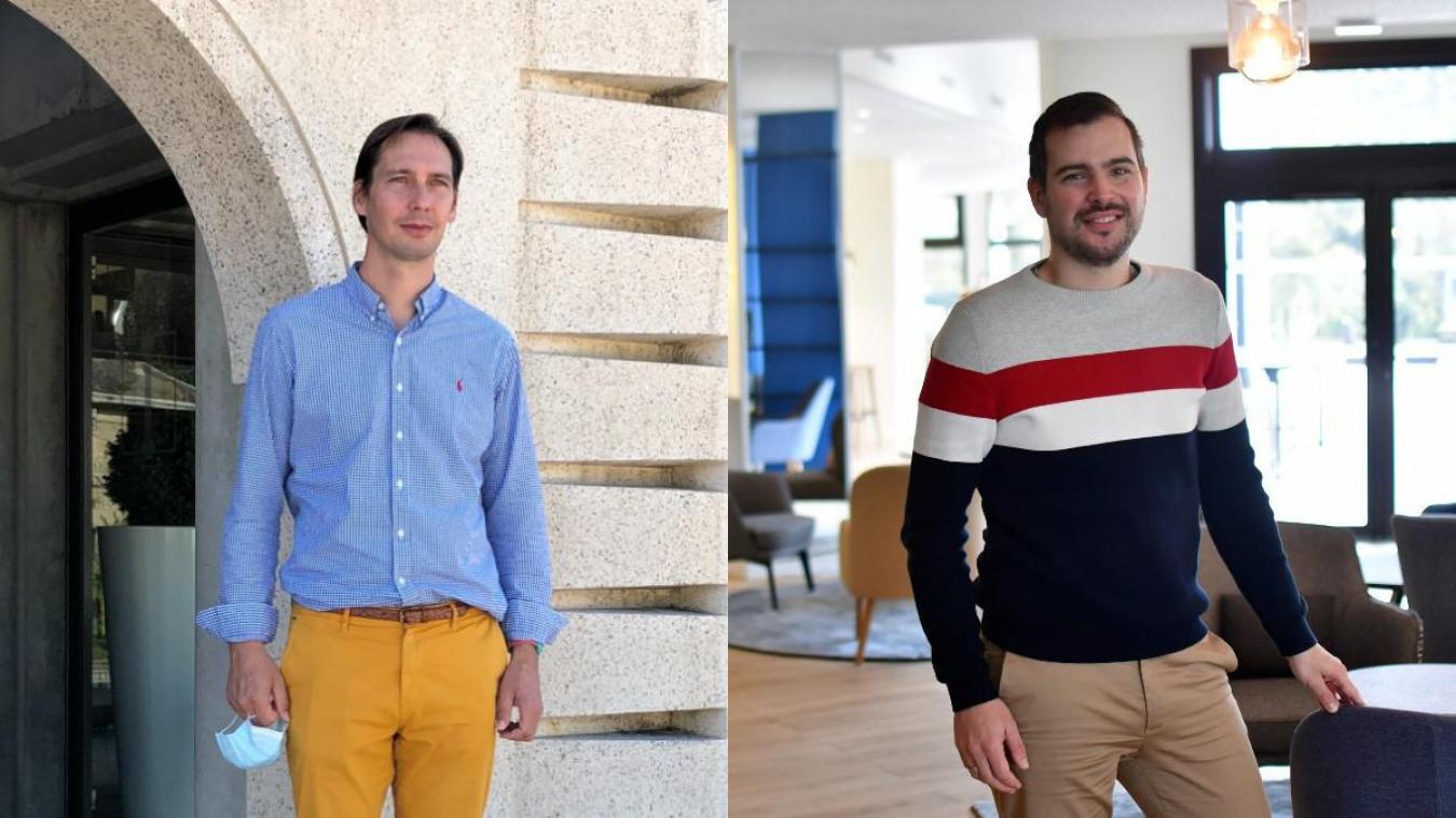 Mathieu Adnot (à gauche) et Florian Hugonet travaillent intensément pour préparer la réouverture de leurs établissements respectifs. Mais pas seulement.