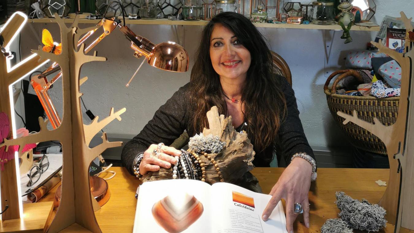 Nathalie Verrier Van dans la partie atelier de son antre.
