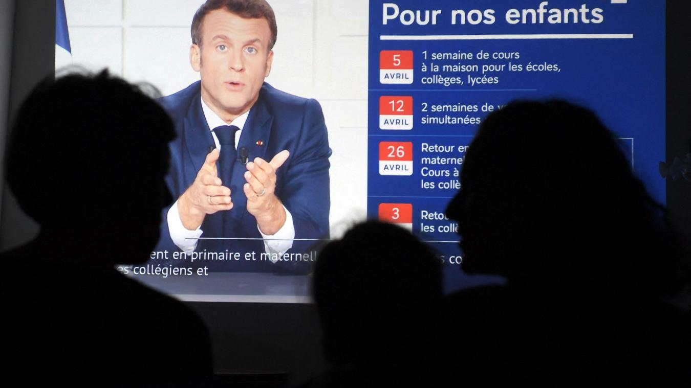 Emmanuel Macron a annoncé de nouvelles mesures pour l'ensemble du pays, mercredi 31 mars. (Crédit photo: Nicolas Tucat / AFP)