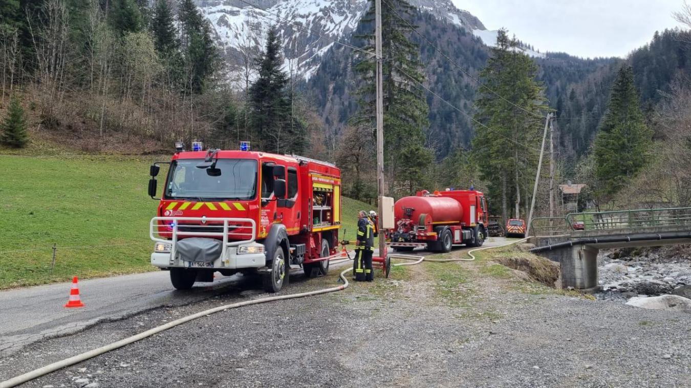 Une trentaine de pompiers ont été mobilisés. Photo: droits réservés.
