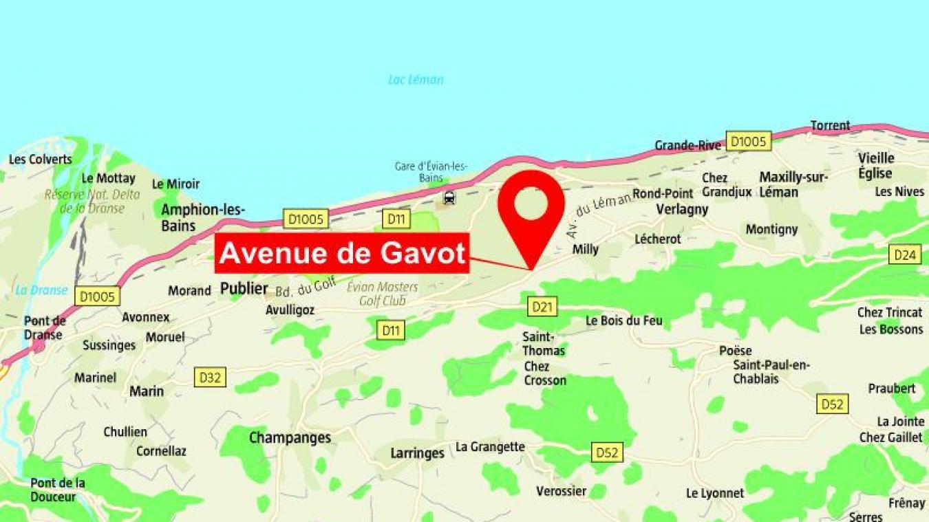 L'accident s'est produit avant 1h45 avenue de Gavot.