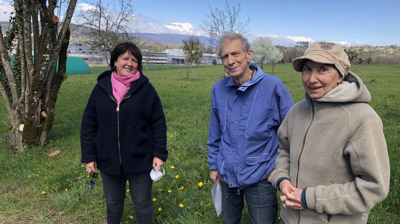 Catherine Chamot, Yves Bertsch et son épouse (de gauche à droite) seront vigilants sur l'évolution du parc.